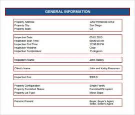 house inspection report template 28 house inspection report template free home