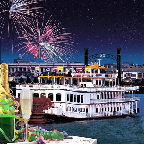 boat cruise new years eve new year s eve fireworks cruise creole queen