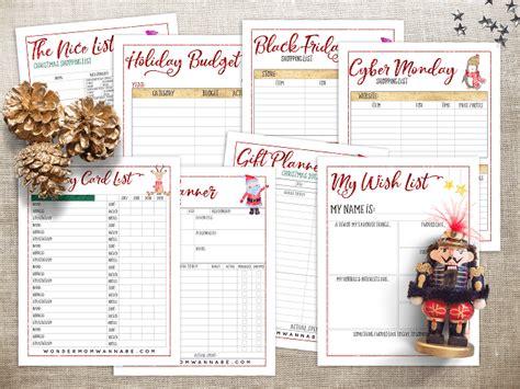 printable christmas planner 2017 the ultimate printable christmas planner