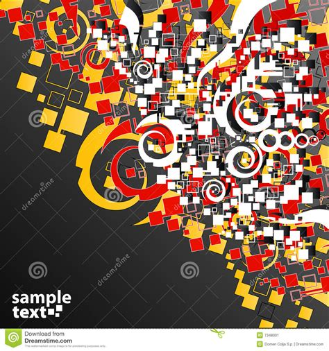 abstract the art of design red yellow abstract art corner design stock image image