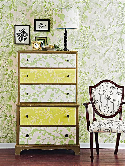 Decoupage Furniture With Wallpaper - s nance furniture redesign furniture facelifts