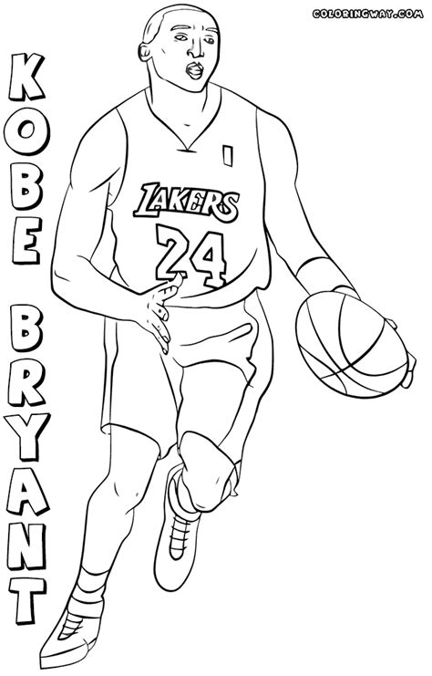 kobe bryant coloring pages coloring pages to download