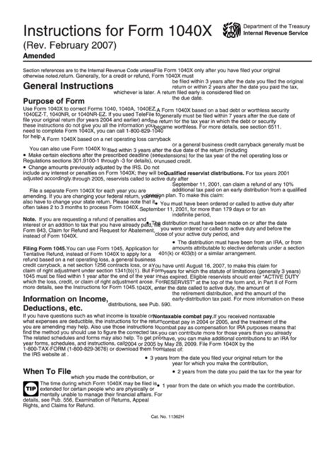instructions for form 1040x amended u s individual