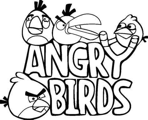coloring page of angry birds angry birds coloring pages free printable coloring pages
