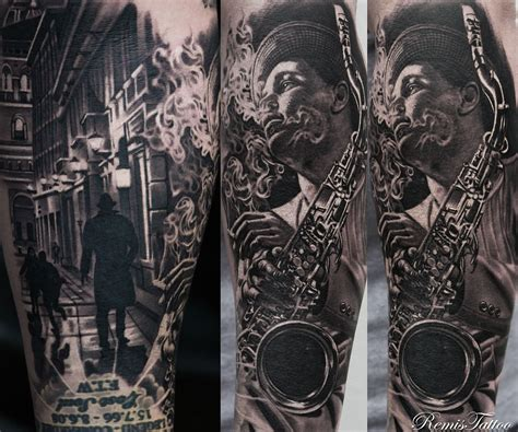 black and grey tattoos designs black and grey portrait by remis remistattoo