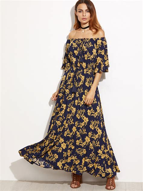 boat neck dress floral wholesale boat neck print floral long chiffon dresses