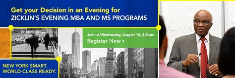 Evening Mba Baruch College by Baruch College The City Of New York Cuny