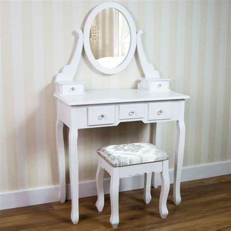 white bedroom table ls nishano dressing table drawer stool mirror bedroom makeup