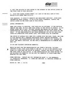 Edd Appeal Letter by Edd Resume Claiming Benefits Ssa Poms Di 52135 030 California Disability Benefits