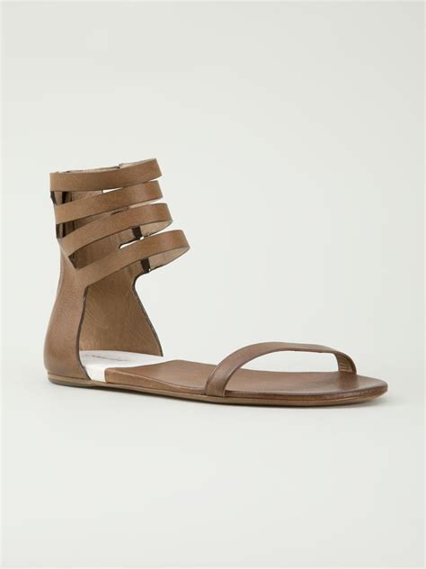 brown two sandals marsell multi sandals in brown lyst