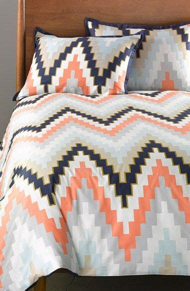 reversible duvet set navy chevron chevron and