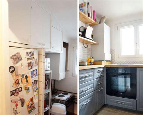 Cuisine Relookée Avant Apres by Am 233 Nagement De Cuisine 4 Avant Apr 232 S De