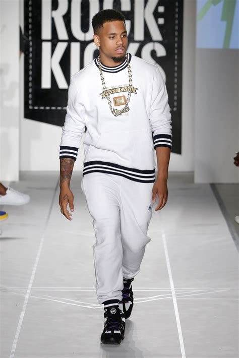 pusha t hairstyle chris brown walks the runway at naomi cbell s fashion