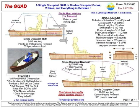 flat bottom boat sizes portable boat plans