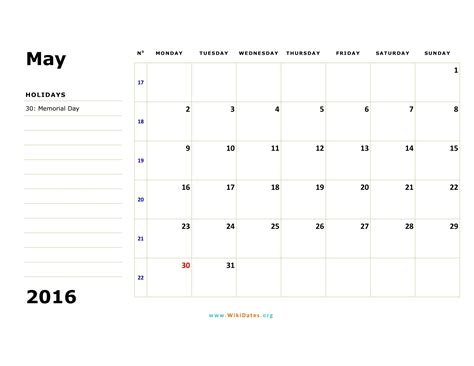 may 2016 calendar may 2016 calendar wikidates org