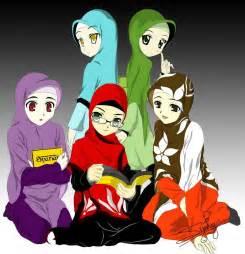 gambar kartun muslimah cute free vector graphics download