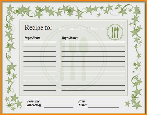 8 recipe card template for word letter template word
