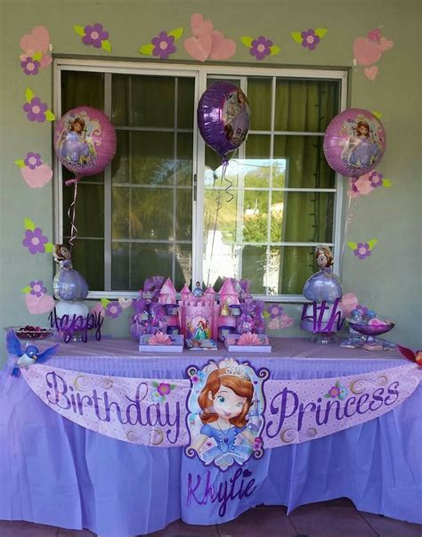 1st birthday party decorations at home my daughter s 4th birthday at home sofia the first party