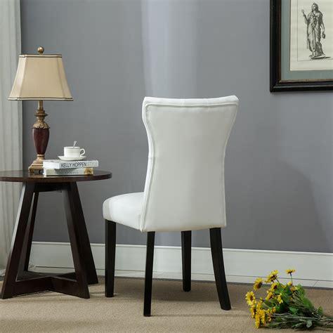 set of 2 dining room furniture black leather dining chairs set of 2 elegant design dining chair kitchen dinette room