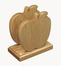 Apple Kitchen Decor Amish Oak Wood Apple Shape Napkin Holder