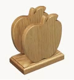 Bathroom Napkin Holder Amish Oak Wood Apple Shape Napkin Holder