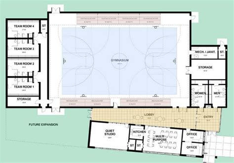 gymnasium floor plan today vote on proposed project to rebuild town offices