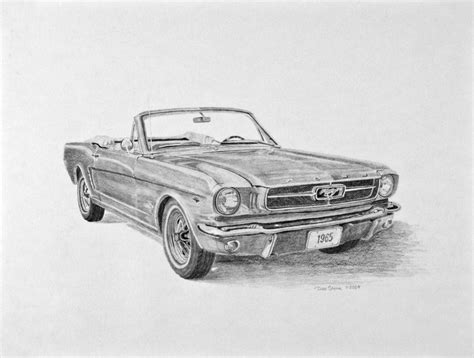 mustang drawing 1965 ford mustang sketch cars