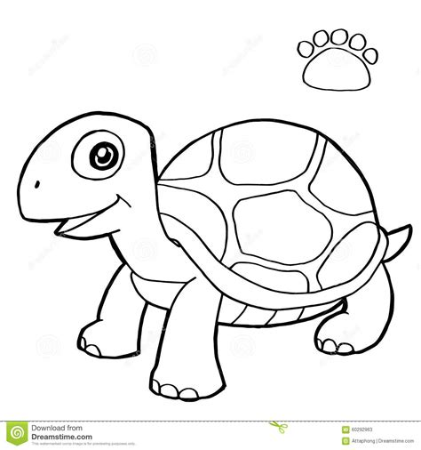 coloring page vector paw print with turtle coloring pages vector stock vector