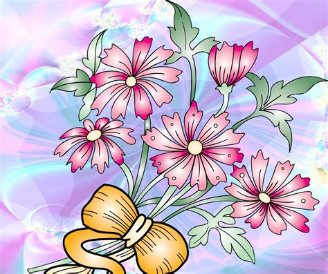 wallpaper bunga lembut bunga merah muda pada latar belakang hd lunak desktop yang