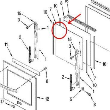 whirlpool part wp  door glass oem