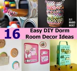 16 easy diy dorm room decor ideas diy cozy home world home