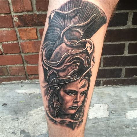 boston tattoo company got this athena done by at boston