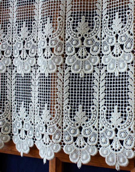 Lace Macrame - classic macrame lace cafe and valance curtain