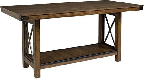 counter height trestle table benson warm brown counter height trestle dining table