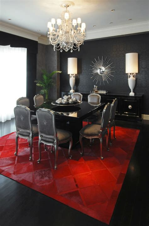 Black White And Red Living Room