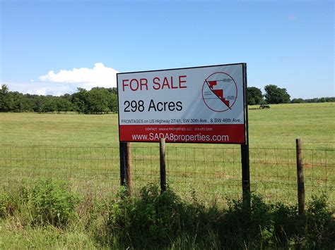 acreage for sale sign cardinal signs