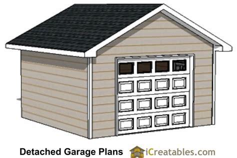 16 Car Garage by 16x16 Garage Plans 1 Car 1 Door Detached Garage Plans