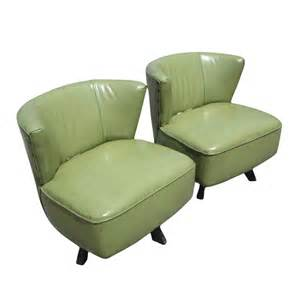 Mid Century Modern Swivel Chair details about mid century modern green swivel slipper chairs