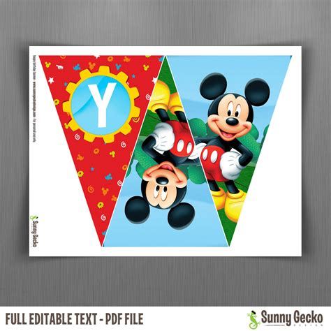 design banner mickey mouse disney mickey mouse clubhouse happy birthday banner with