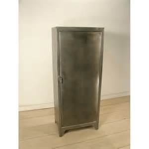 Vintage Metal Storage Cabinet Polished Metal Cabinet With Shelves Vintage Industrial Storage