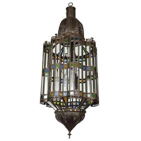 Large Moroccan Glass Pendant Chandelier At 1stdibs Large Pendant Chandelier