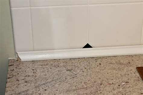 trim for tile backsplash kitchen update goodbye tile backsplash