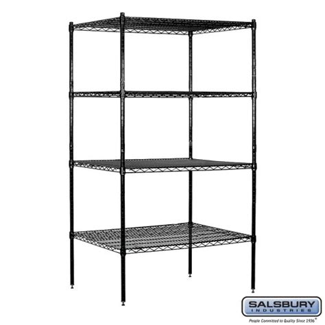 salsbury industries stationary wire shelving unit 36 inch