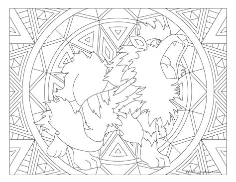 pokemon coloring pages arcanine 059 arcanine pokemon coloring page 183 windingpathsart com