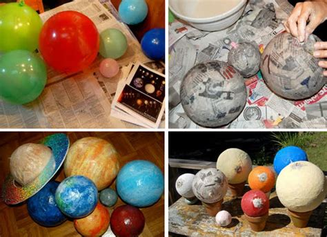 How To Make Paper Planets - papier mache planets pics about space