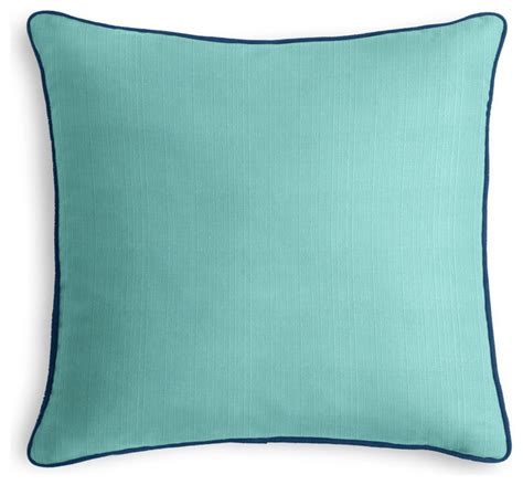 Aqua Outdoor Pillows by Aqua Outdoor Pillow With Navy Cord Outdoor Cushions And