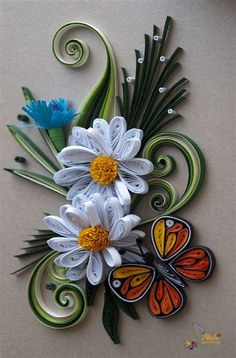 Paper Quilling Flower - free quilling patterns cake ideas and designs