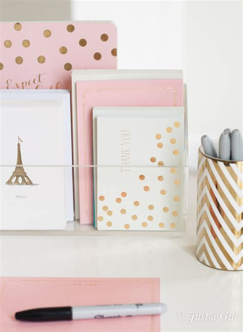 Pink And Gold Desk Calendar by The Home You Just A
