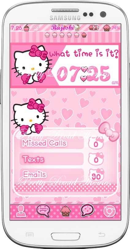 themes hello kitty samsung young pretty droid themes hello kitty pink widget pack
