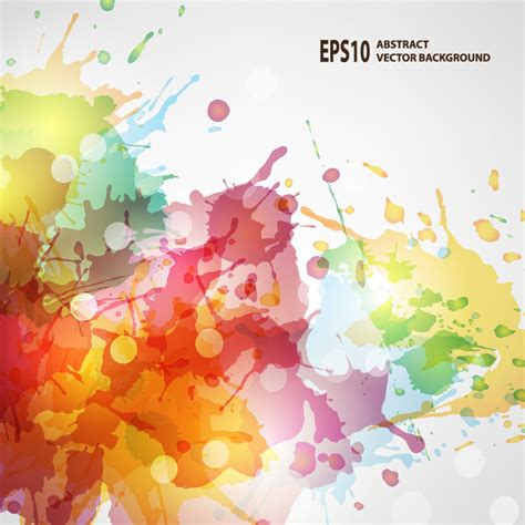 colorful color ink background vector free vector graphic